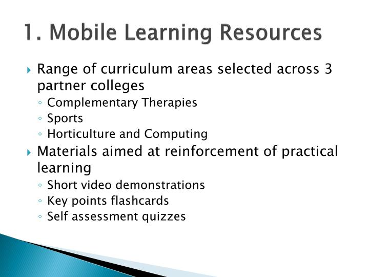 1. Mobile Learning Resources