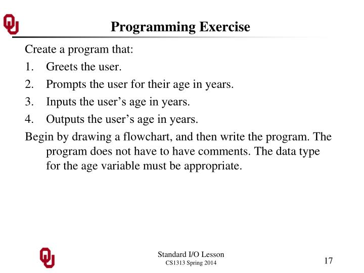 Programming Exercise
