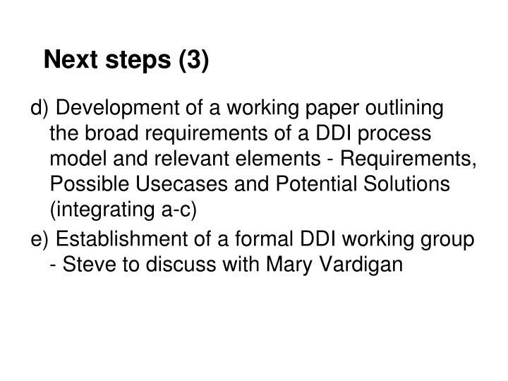 Next steps (3)