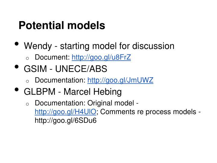 Potential models