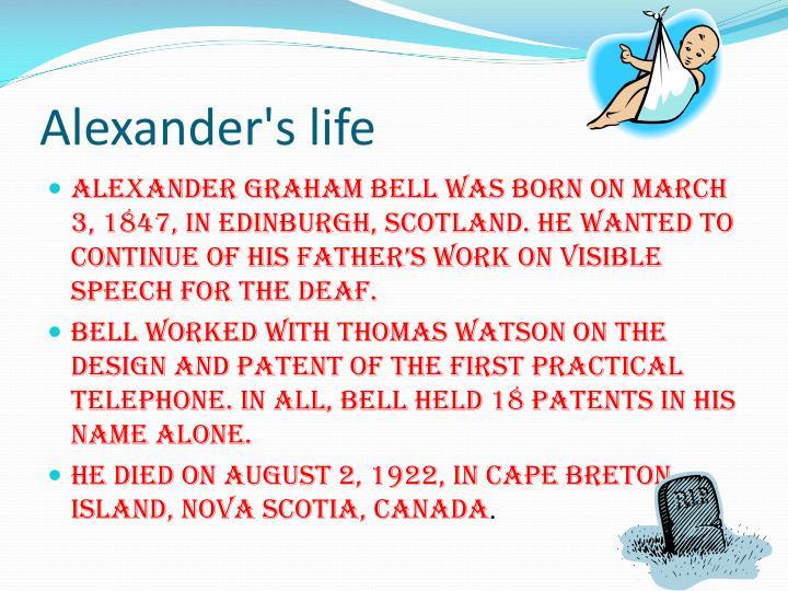 Alexander's life