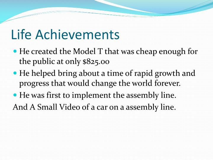 Life Achievements