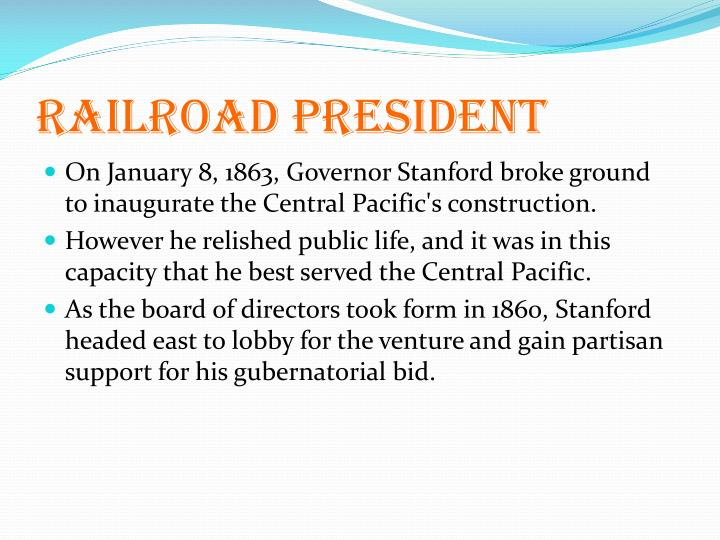 Railroad president