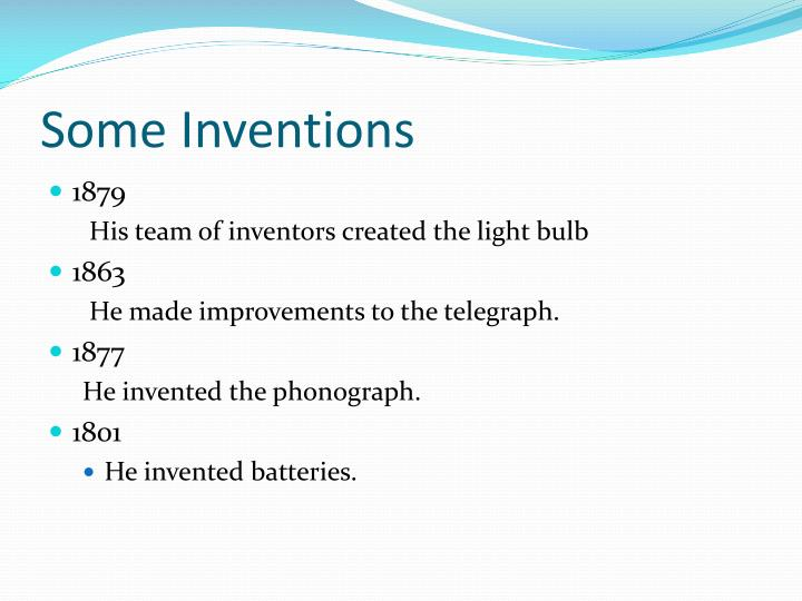 Some Inventions