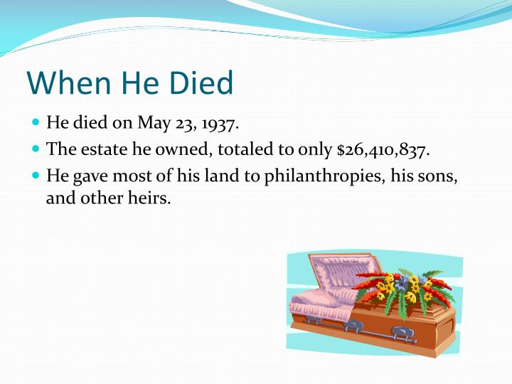 When He Died
