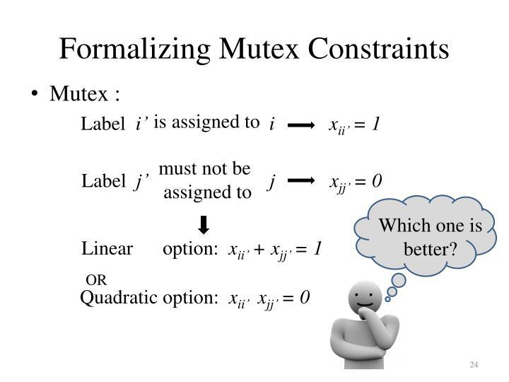 Formalizing