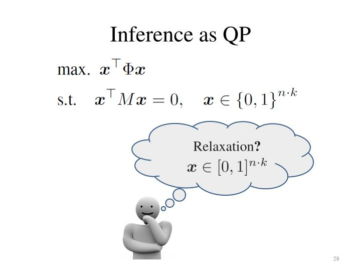 Inference as QP
