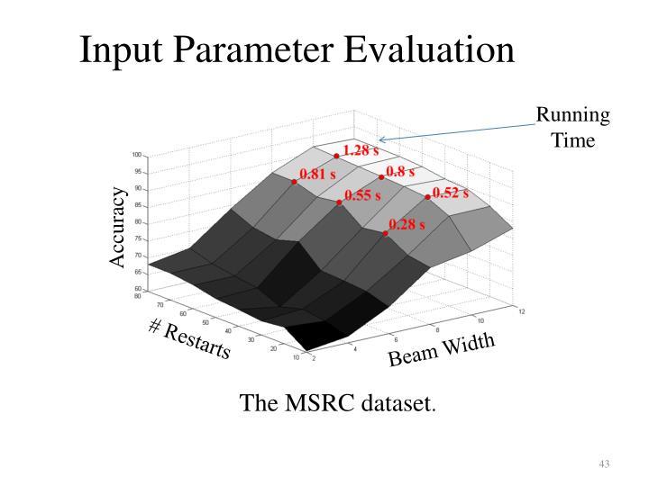 Input Parameter Evaluation
