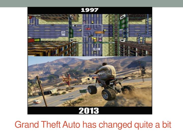 Grand Theft Auto has changed quite a bit