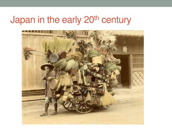 Japan in the early 20