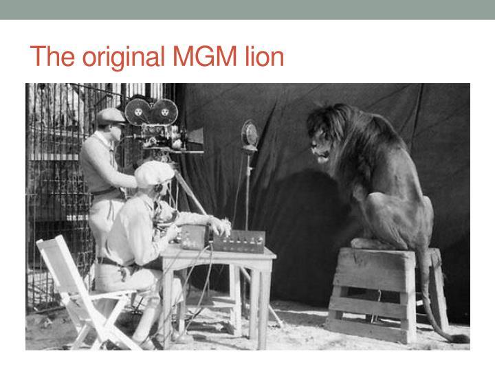 The original MGM lion