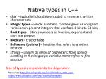 native types in c