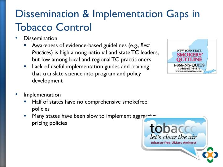Dissemination & Implementation Gaps in Tobacco Control