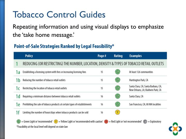 Tobacco Control Guides
