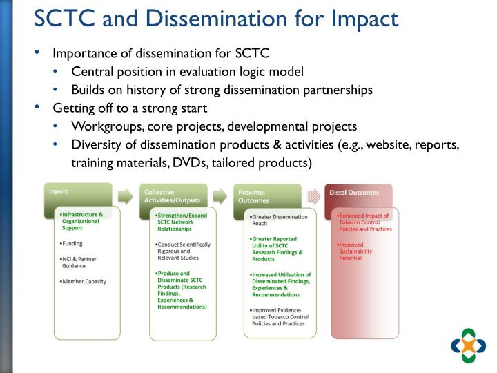 SCTC and Dissemination for Impact