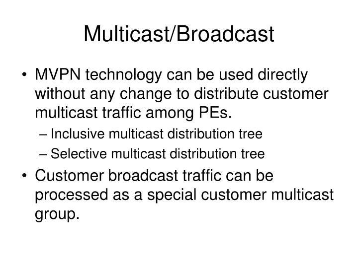 Multicast/Broadcast