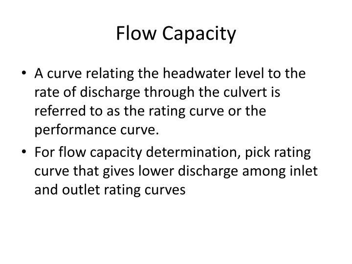 Flow Capacity