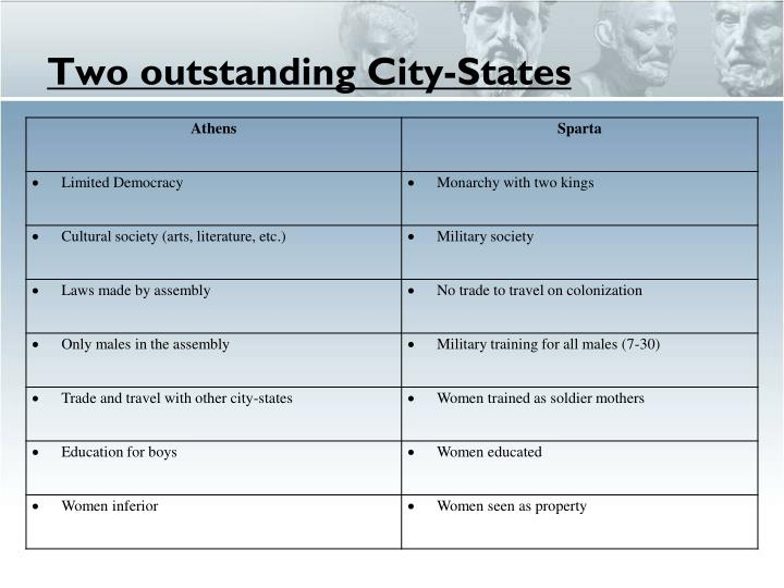 Two outstanding City-States