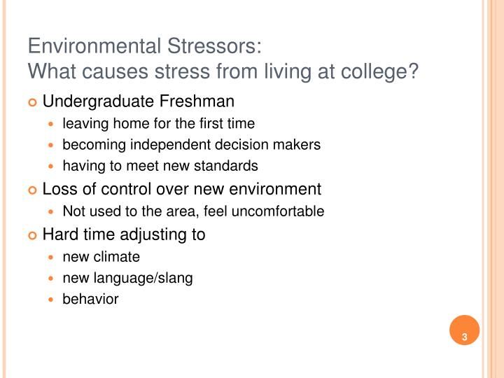 the effects of stress on freshman college students Research has demonstrated that college students experience stress from sources such as poor self-care habits, educational demands, daily hassles, and perceived.