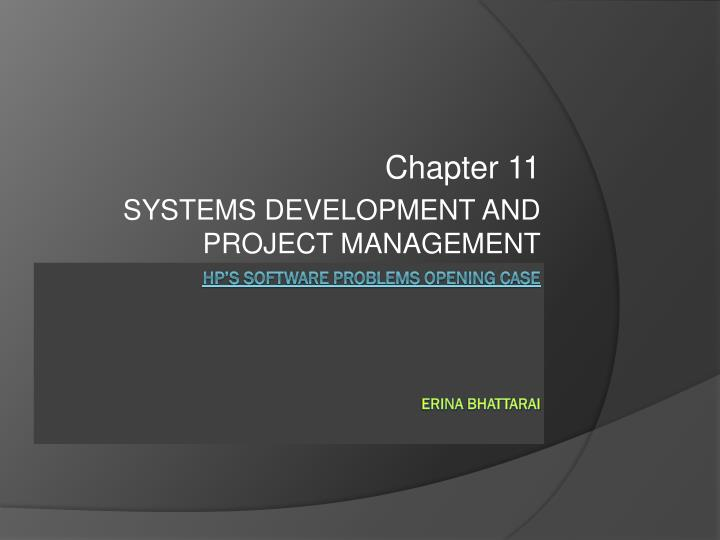 chapter 11 systems development and project management