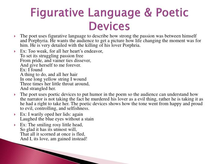 Figurative Language & Poetic Devices
