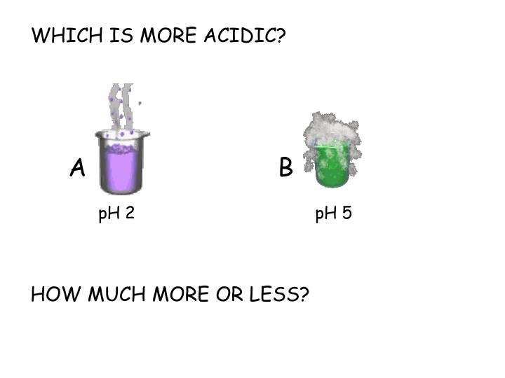 WHICH IS MORE ACIDIC?