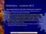 reflections students 20123