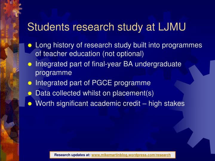Students research study at LJMU