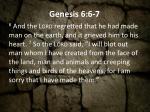 genesis 6 6 7