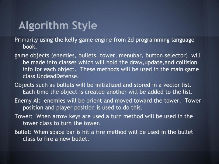 Algorithm Style