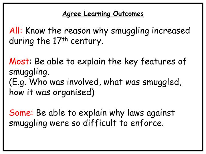 Agree Learning Outcomes