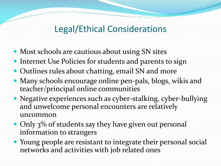 Legal/Ethical Considerations