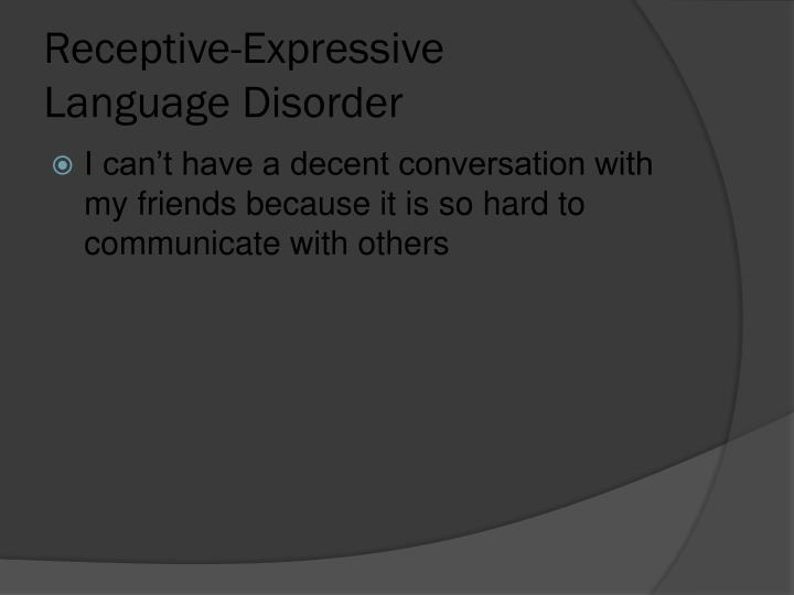 Receptive-Expressive