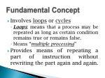 fundamental concept