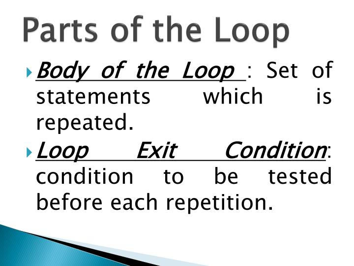 Parts of the Loop