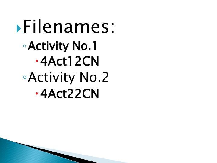 Filenames: