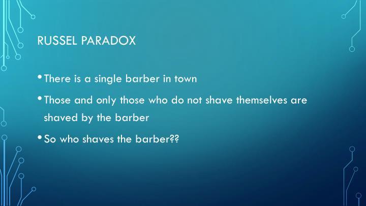 RUSSEL PARADOX