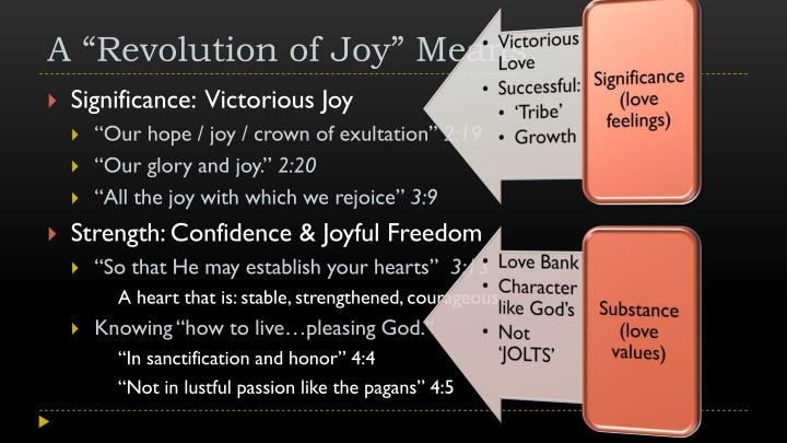 A revolution of joy means