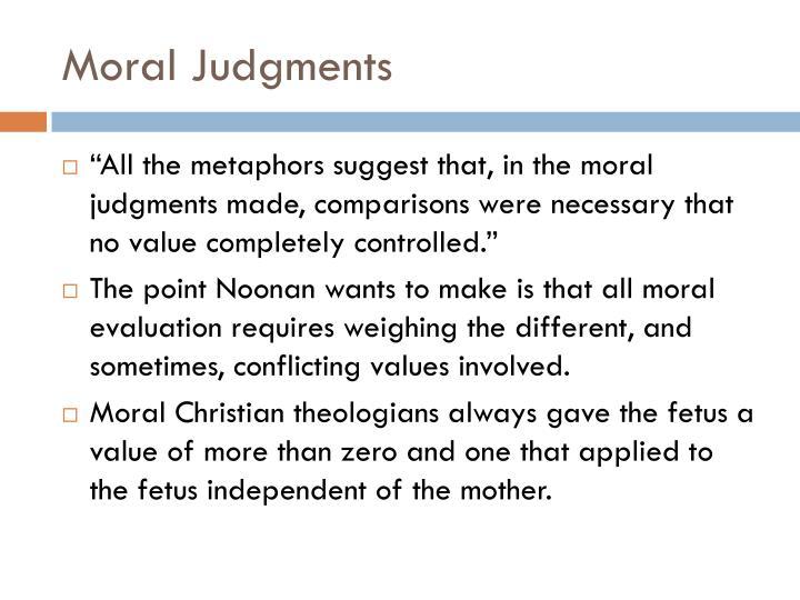 Moral Judgments