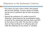 objections to the sentiments criterion