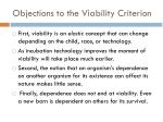 objections to the viability criterion