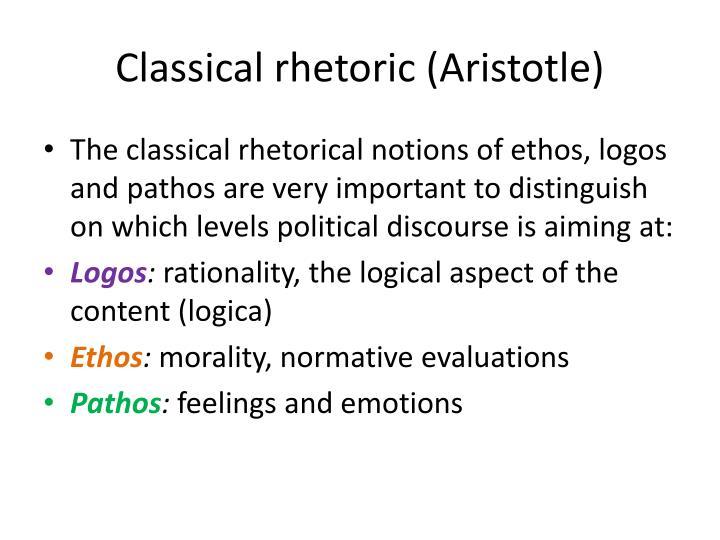 Classical rhetoric (Aristotle)