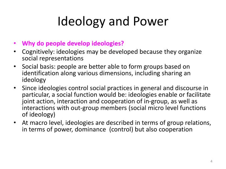 Ideology and Power