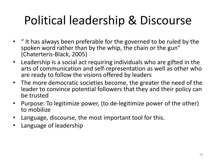 Political leadership & Discourse