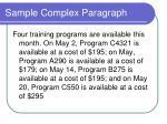 sample complex paragraph1