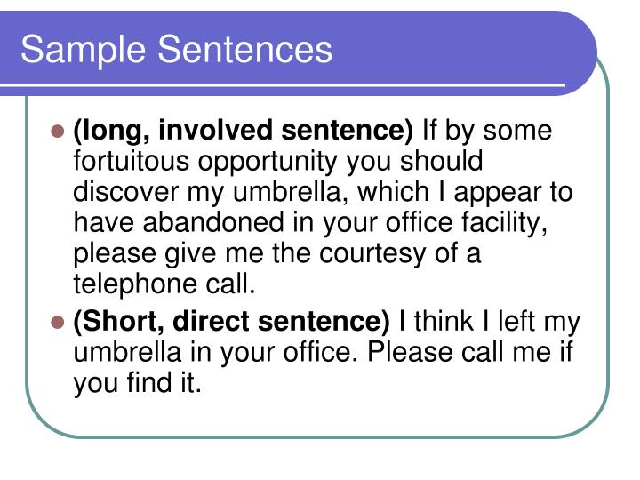 Sample Sentences