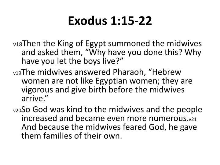 Exodus 1:15-22