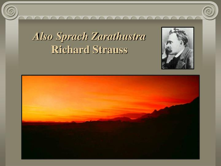 Also sprach zarathustra richard strauss