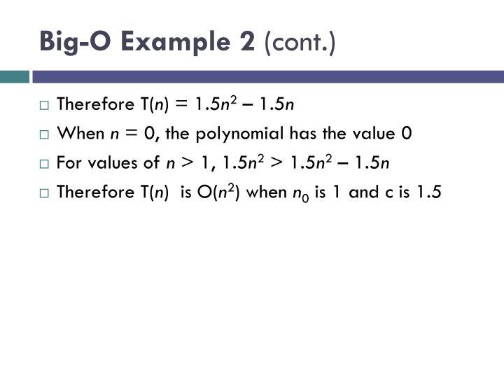 Big-O Example 2