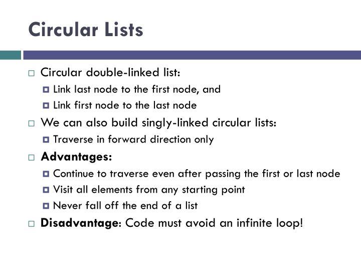 Circular Lists